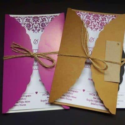 Renkli Düğün Davetiyesi Örnekleri