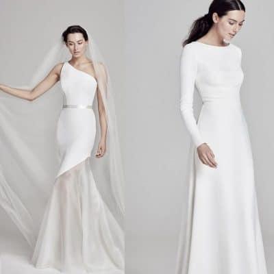 187cc42b02c44 Sade gelinlikler arasında bohem, vintage, nikah elbisesi, prenses ve A  kesim ile straplez gelinlikleri bulabilirsiniz. Omuzları hafif tül ve  işlemelerle ...