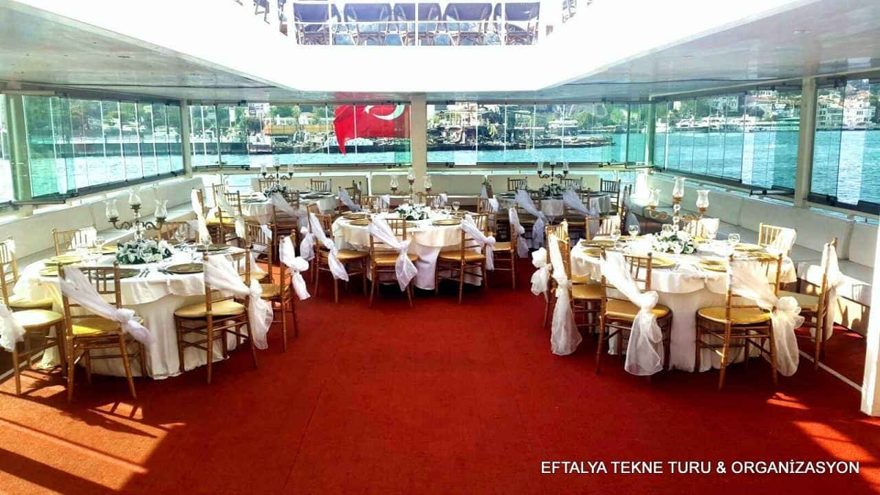 Eftalya tekne turu Organizasyon Beşiktaş Düğün Fiiyatları